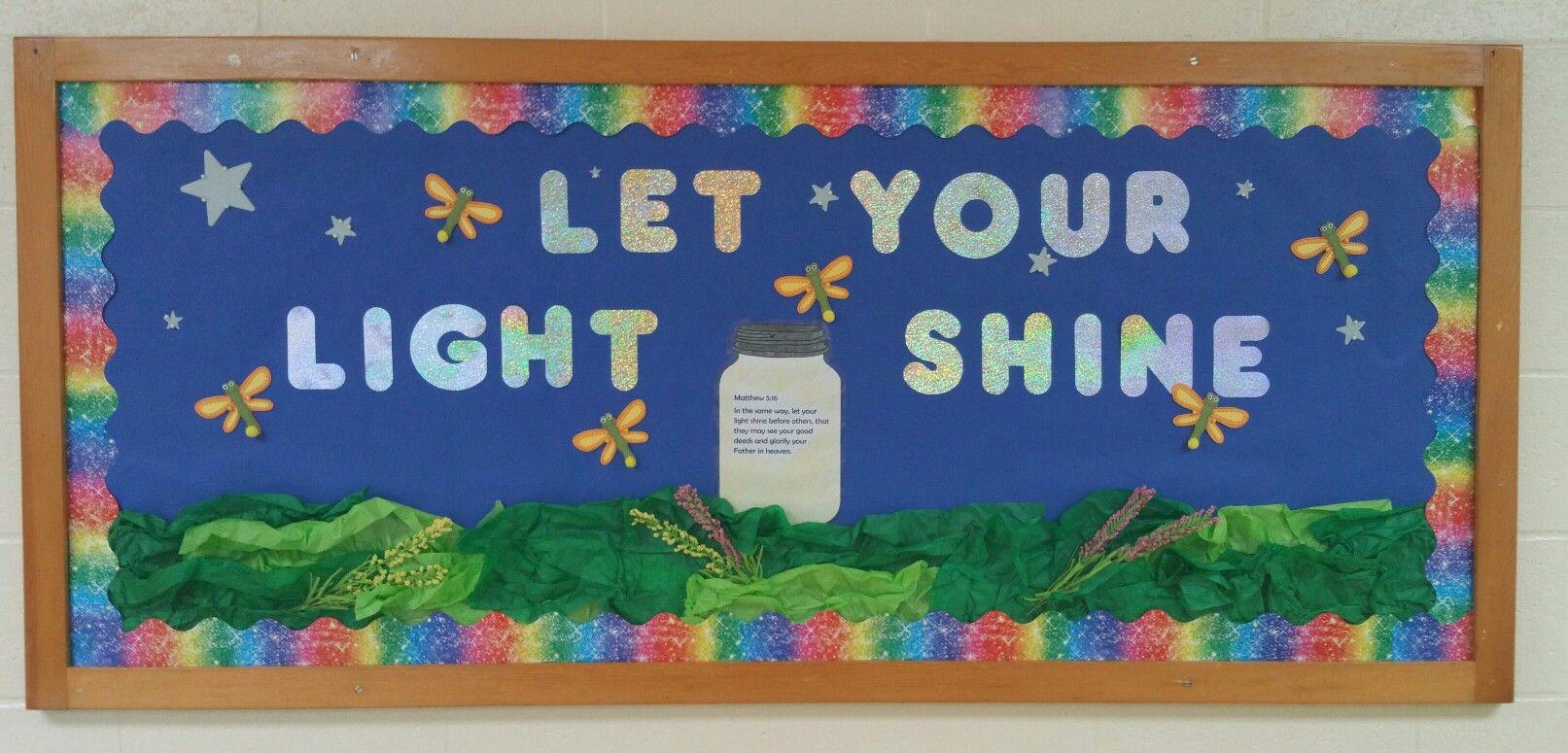 Sunday School Bulletin Board Let Your Light Shine Decorations Themes Classroom