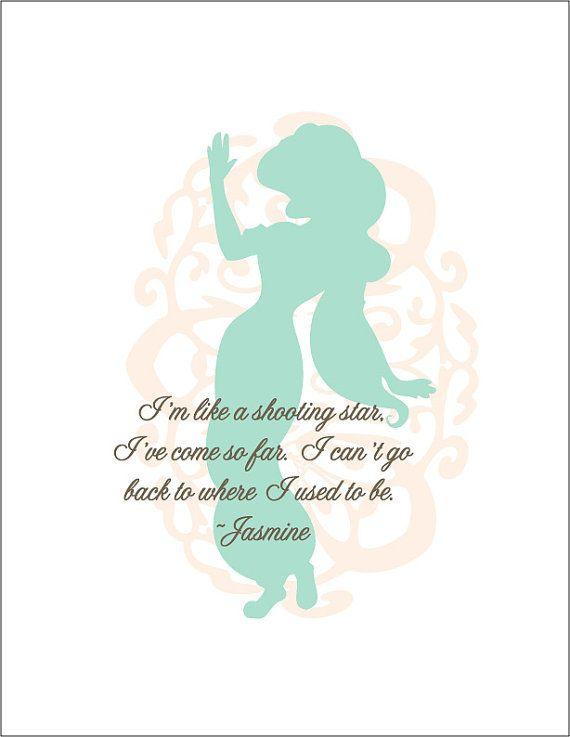 Walt Disney Princess Jasmine Print #aladdin