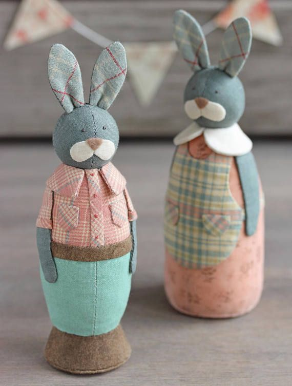 Pdf Bunny Boy Sewing Pattern Sewing Tutorial Rabbit Pattern