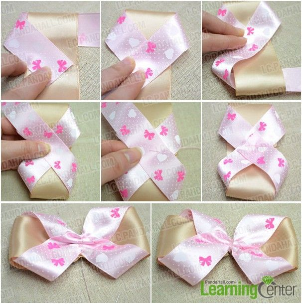 Hair Bow with 2 Ribbons Tutorial (Written & Pics - Add ...