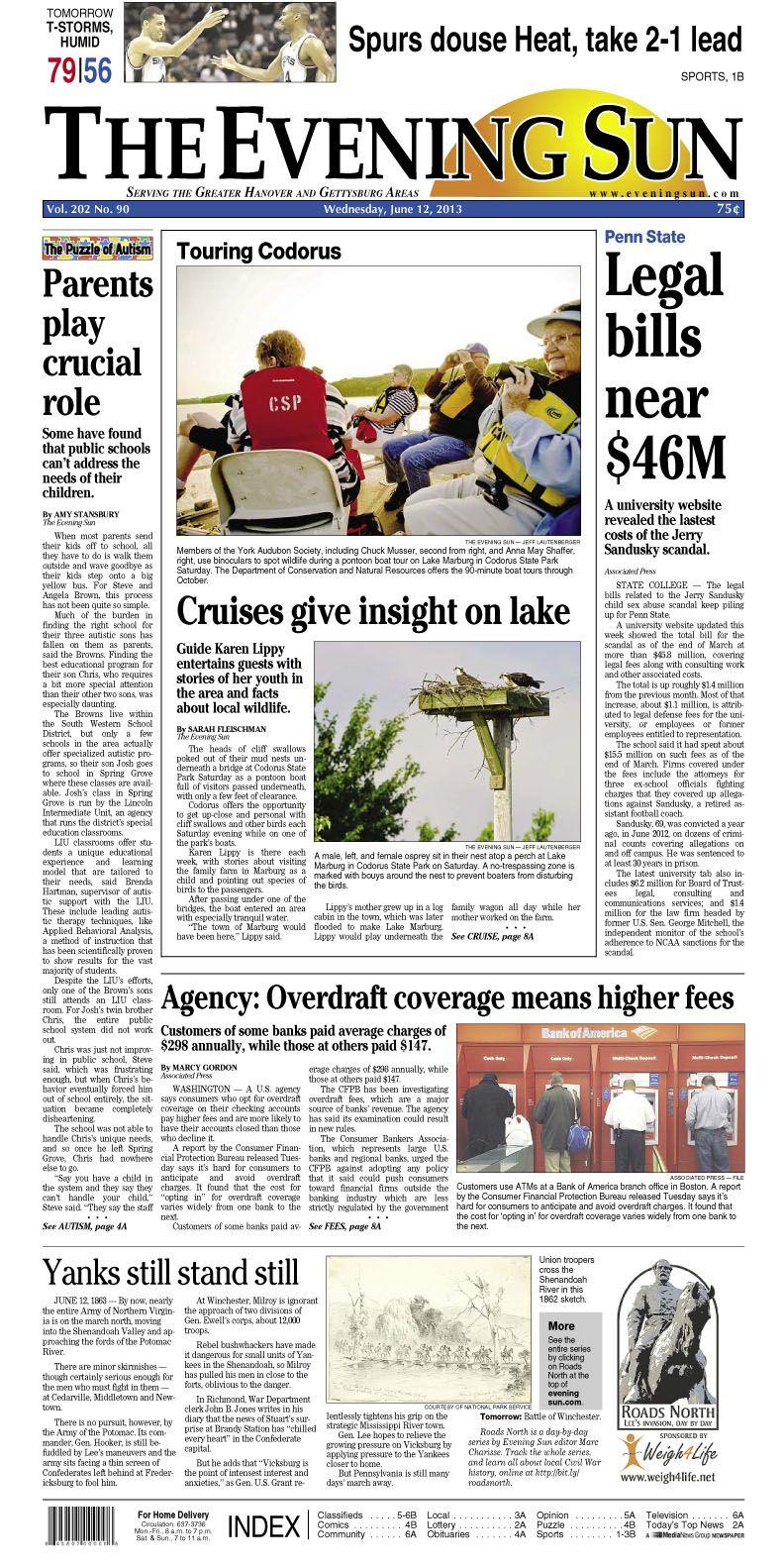 The Evening Sun, Wednesday, June 12, 2013