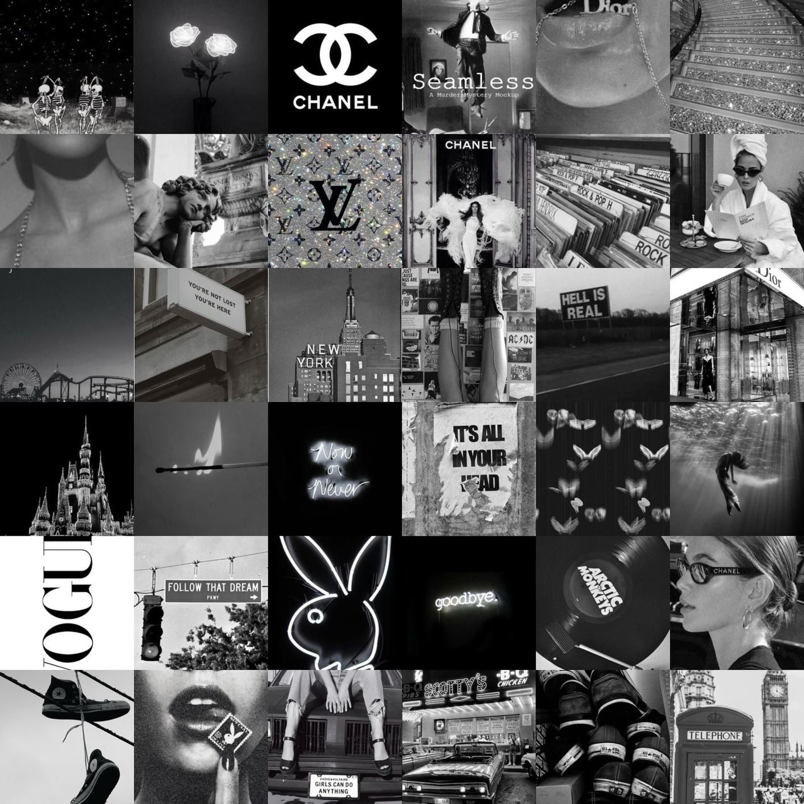 80pc Black And White Aesthetic Wall Collage Kit Etsy In 2021 Black And White Aesthetic Black And White Photo Wall Black And White Picture Wall Cute black and white wallpaper