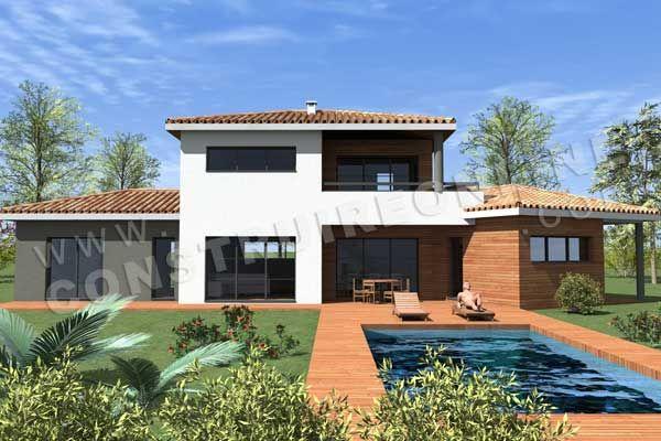 Plan De Maison Moderne   Surface Habitable: / Surface Annexe:   Emprise Au  Sol De X   Plan De Maison Moderne à étage De Type