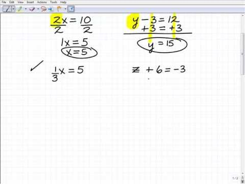 How to Solve Basic Equations (first step to understand