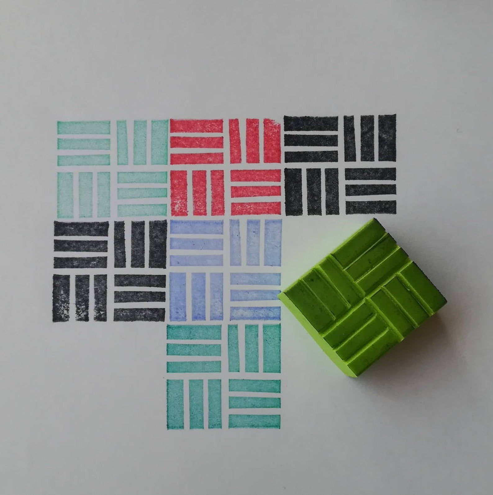 Texture rubber Stamp, texture stamp, square stamp, background stamp, bricks stamp, pattern stamp, geometric stamp, rubber stamp, cardmaking