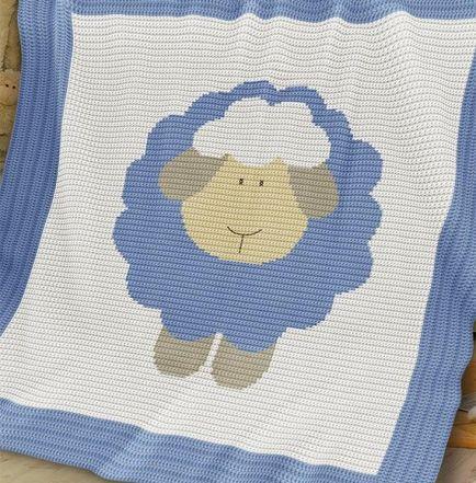 Crochet Pattern Baby Blanket Afghan Sheep Blankets