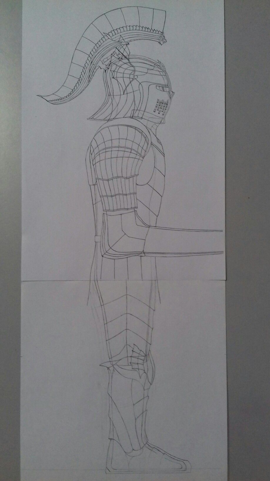 Paladin knight armor with sallet helmet with dragon ear wings and