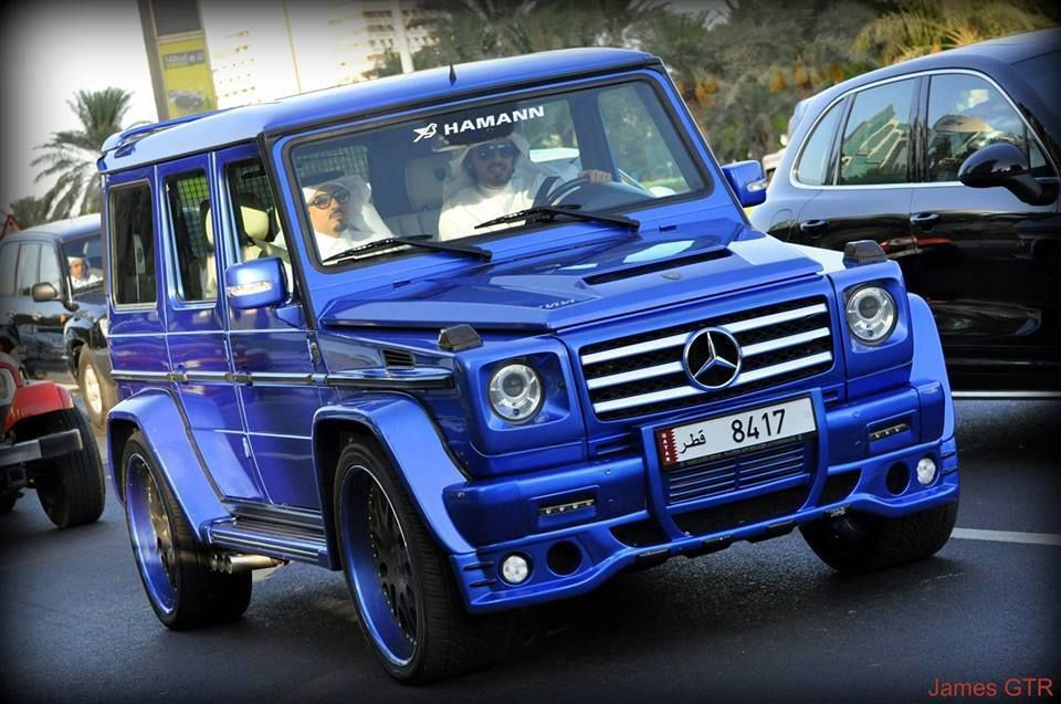Kitted G Wagon In Electric Blue Mercedes Jeep Mercedes G Wagon