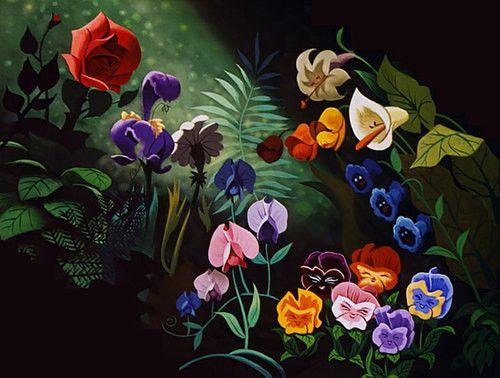 Flowers of Wonderland Disney Gardens and Alice and wonderland