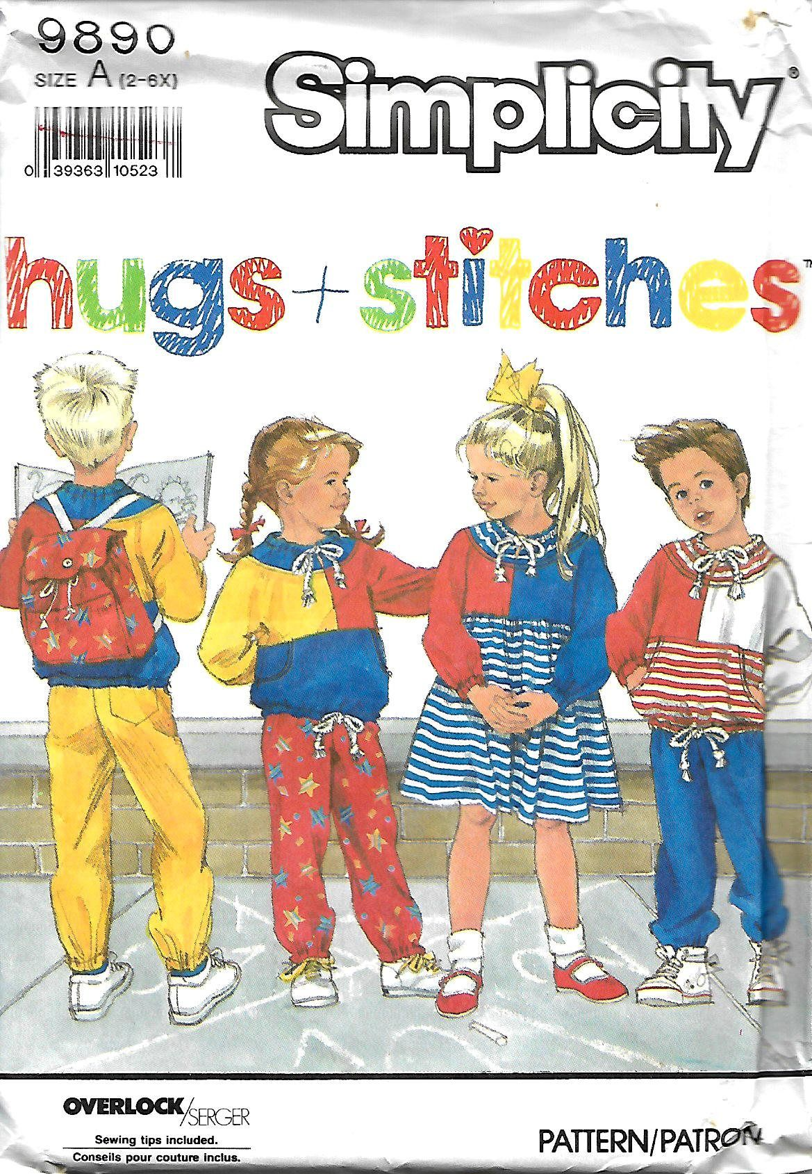 Simplicity Hugs Stitches Child S Pants Knit Dress