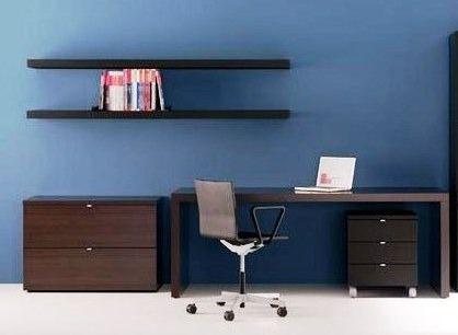 grupo diseño escritorio + 2 cajoneras, una movil+ 2 estantes - diseo de escritorios
