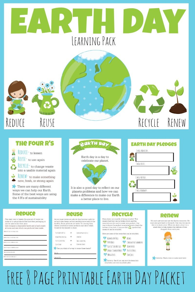 Free Earth Day Learning Pack Earth Day Projects Earth Day Activities Earth Day Crafts [ 1200 x 800 Pixel ]