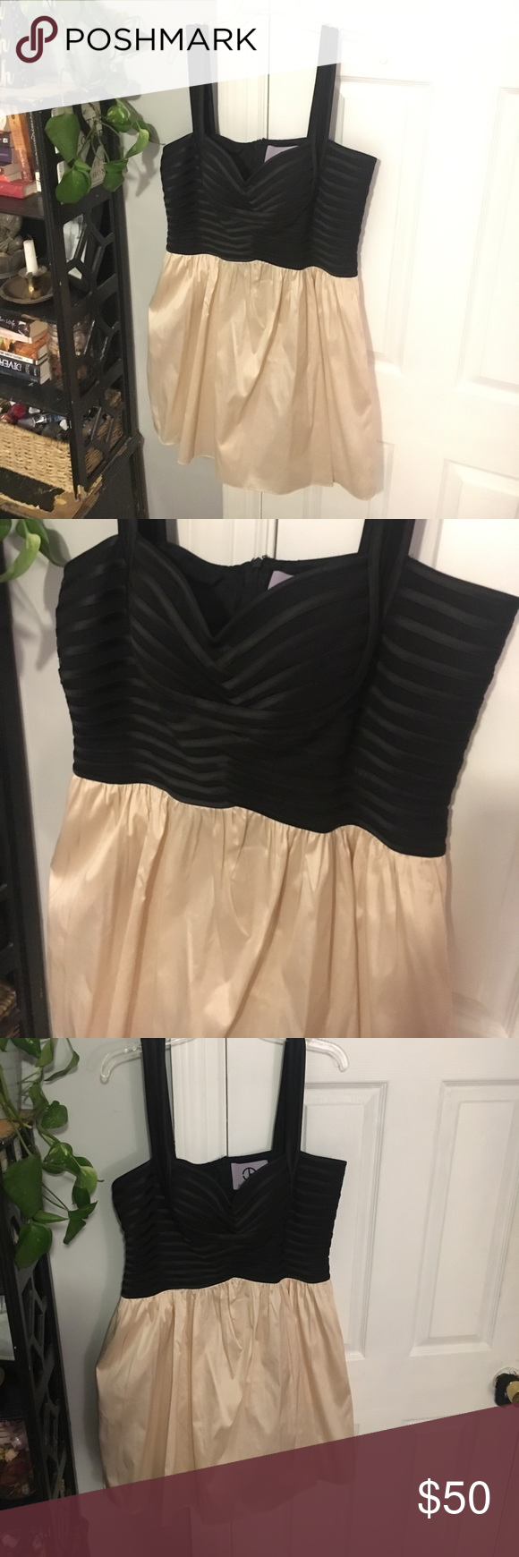Black and pink formal cocktail dress