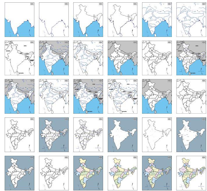 Carte De Linde A Imprimer.Ressources Cartes Geographiques De L Inde A Imprimer