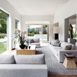 Cool grey modern interior #interiorideas