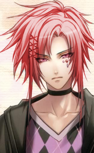 Pink Eyes And Red Braided Hair Anime Anime Male Face Anime Artwork