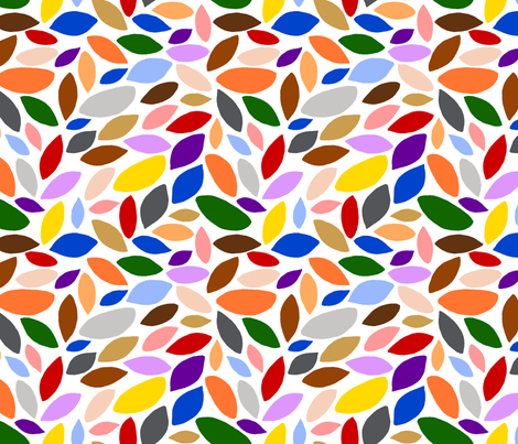 Forest - Leaves Scattered fabric by joyfulrose on Spoonflower - custom fabric