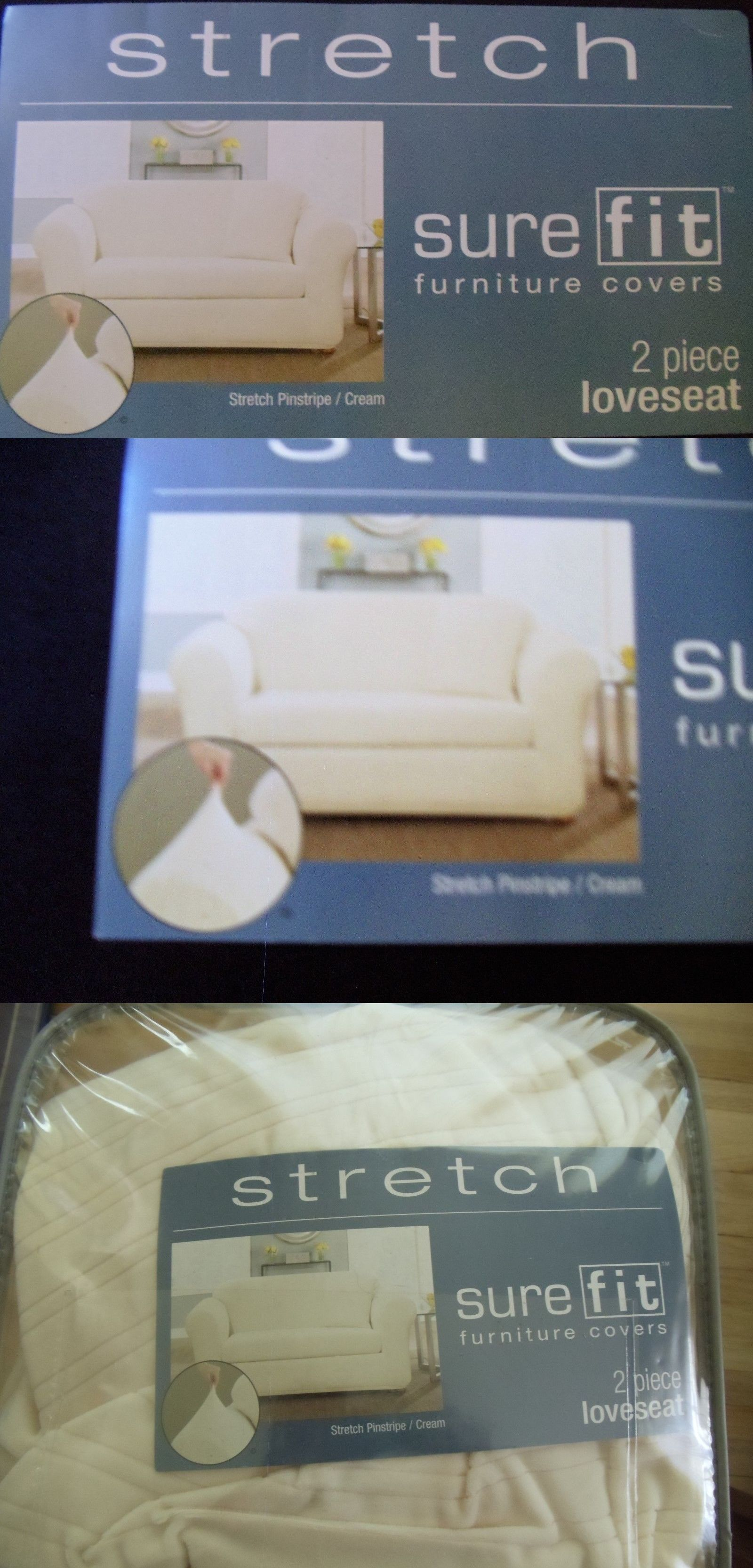 Slipcovers Sure Fit Stretch 2 Piece Loveseat Slipcover