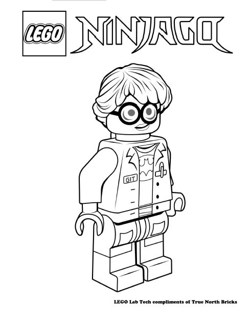 LEGO Colouring Page – GIT Technician | Lego ninjago movie, Legos and ...