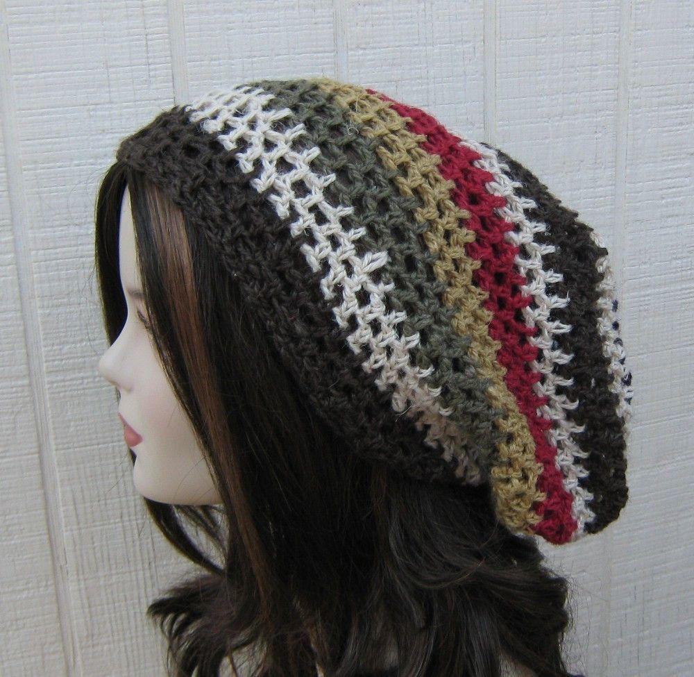 Slouchy beanie, Hemp Wool Tam, Hippie hat, Dread Tam, woman slouchy ...