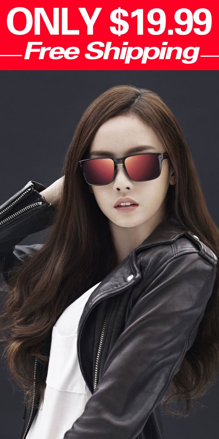 695ad3e78af60 ...  19.99  Cheap  Eyewear  Discount  oakleysunglasses  Glasses  Fashion   Polarized  Women for Men Oakley Holbrook Sunglasses Black Frame Yellow Lens