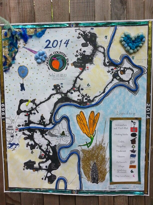 Map of the Oregon Country Fair 2014