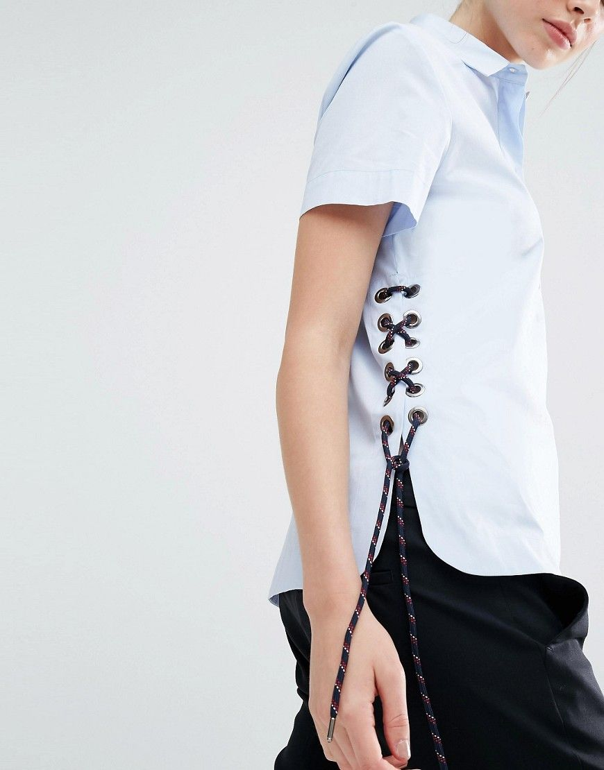 Image 3 of Sportmax Code Antonia Lacing Shirt