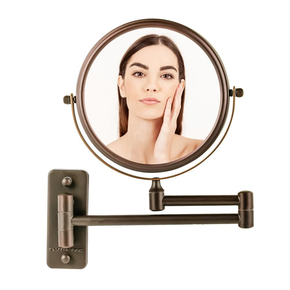 Ovente Dual Sided Wall Mount Mirror 1x 10x Magnification Antique Bronze Mnlfw70abz1x10x Mnlfw70abz1x10x In 2020 Wall Mounted Mirror Bronze Mirror