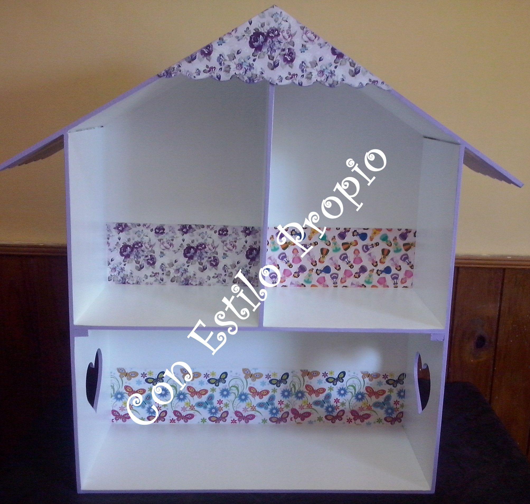 Casas de muñecas para las princesas de la casa , tono lila .