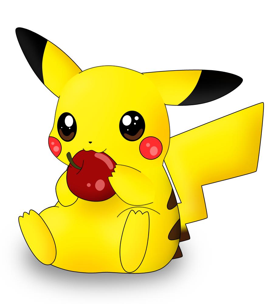 Pikachu Photo: Pikachu nabbing at apple