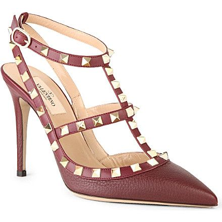 valentino rockstud leather courts  fashion shoes