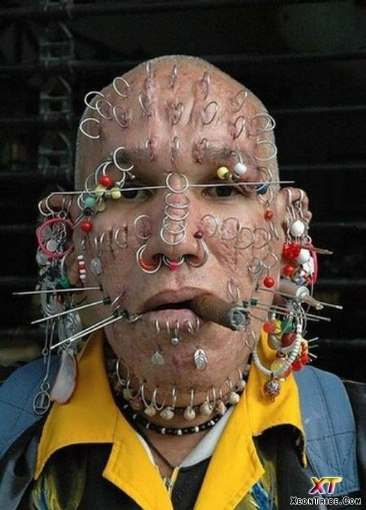 Image Detail For Weirdest Face Piercing Crazy People Strange People Stupid People