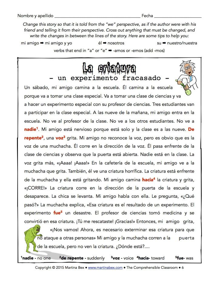 Printable Worksheets spanish preterite worksheets : Click on the image to download the reading and activity. | Español ...