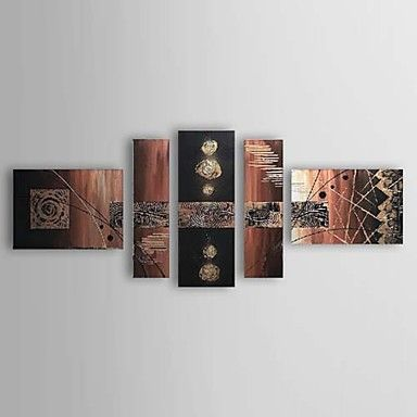 Hand Painted Oil Painting Abstract Set of 5 1211-AB0299 – USD $ 134.99