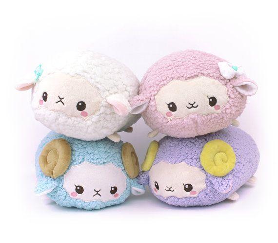PDF sewing pattern - Sheep Roll plush stacking loaf plushie with ...