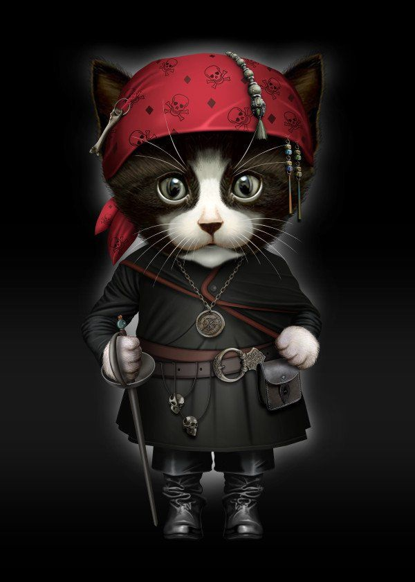 PIRATE CAT 2016  PIRATE CAT 2016 Gallery quality print on thick 45cm / 32cm metal plate. Each Displate print verified by the Production Master. Signature and hologram added to the back of each plate for added authenticity & collectors value. Magnetic mounting system included.  EUR 41.00  Meer informatie