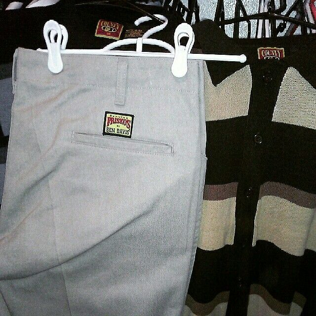 6c1f11a0 Old school Frisco Bens pants and an Original FB county polo shirt. #Vintage