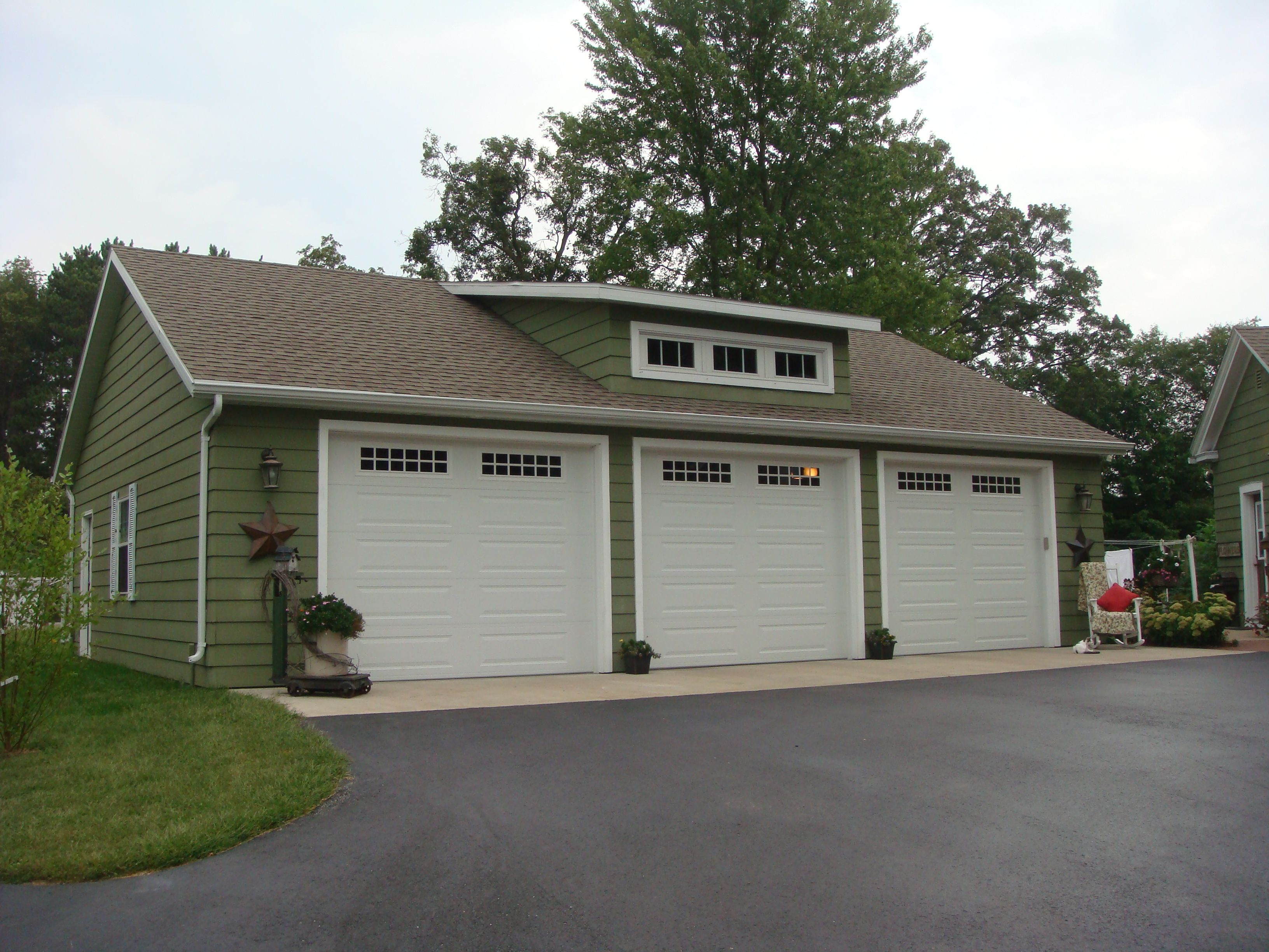 3 car with carport detached garage pictures car garage w for Garage with shop