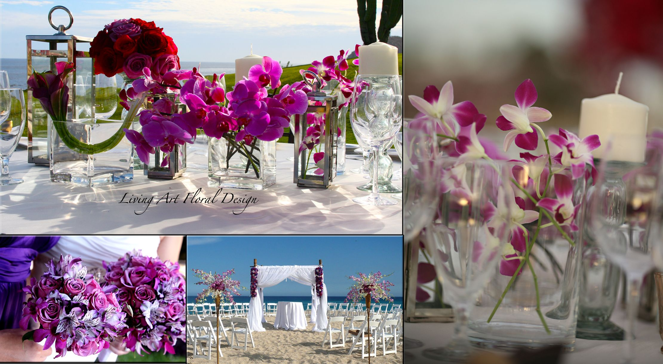 Floral designs and Wedding centerpieces