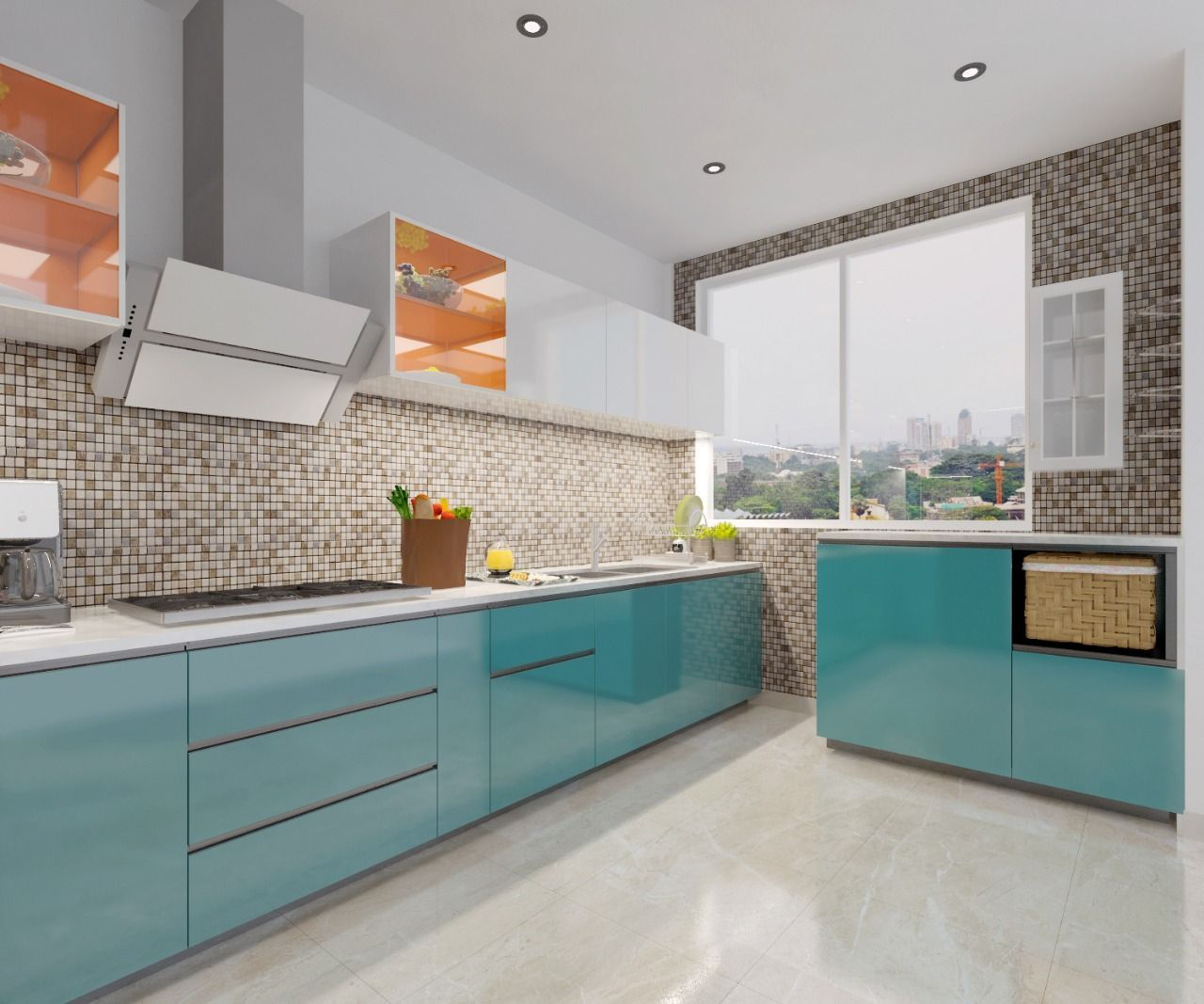 Latest Modular Kitchen Design by RV Dezigns Get Your Free 3D