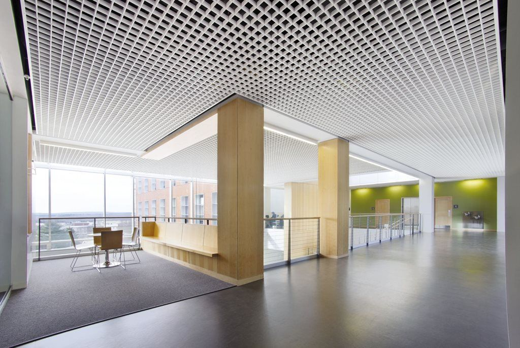 Amazing office space ceiling ceilings bulkheads for Office ceiling design