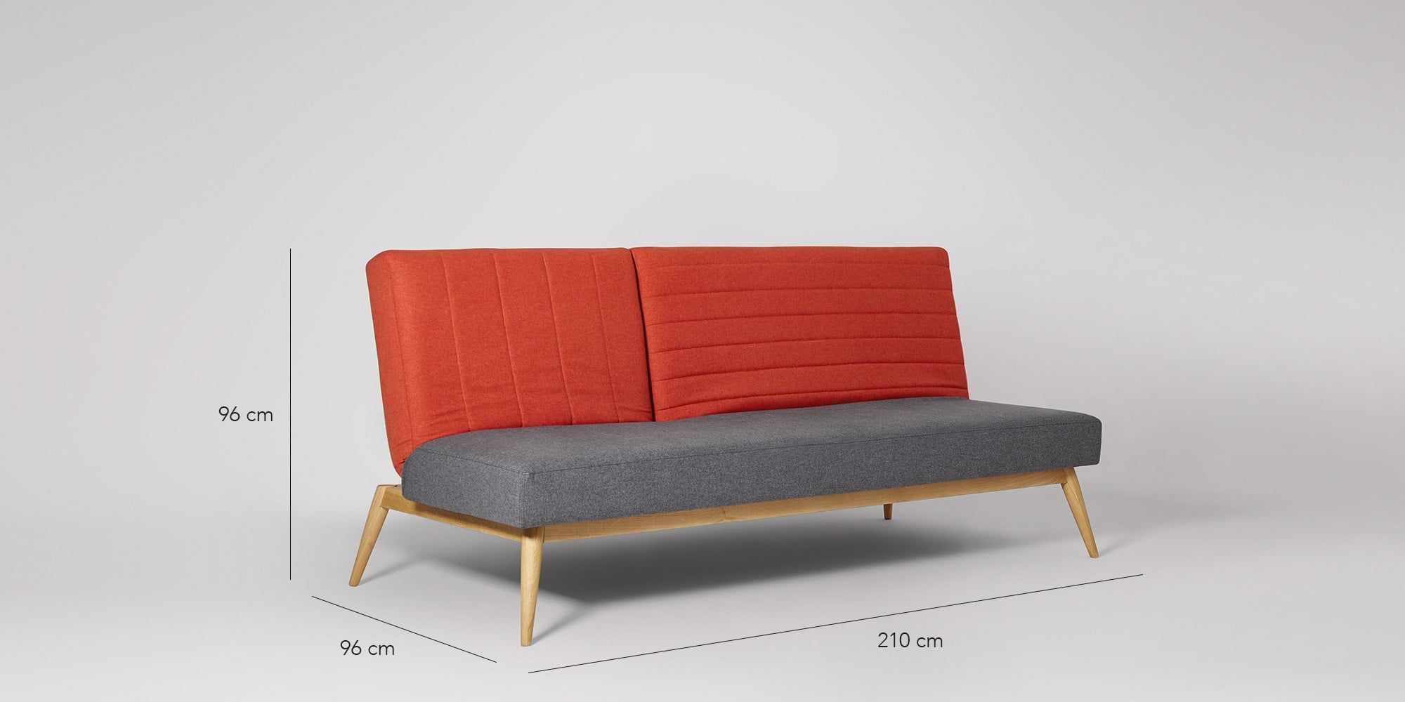 Scarlett Grey & Orange Sofa Bed - Swoon Editions