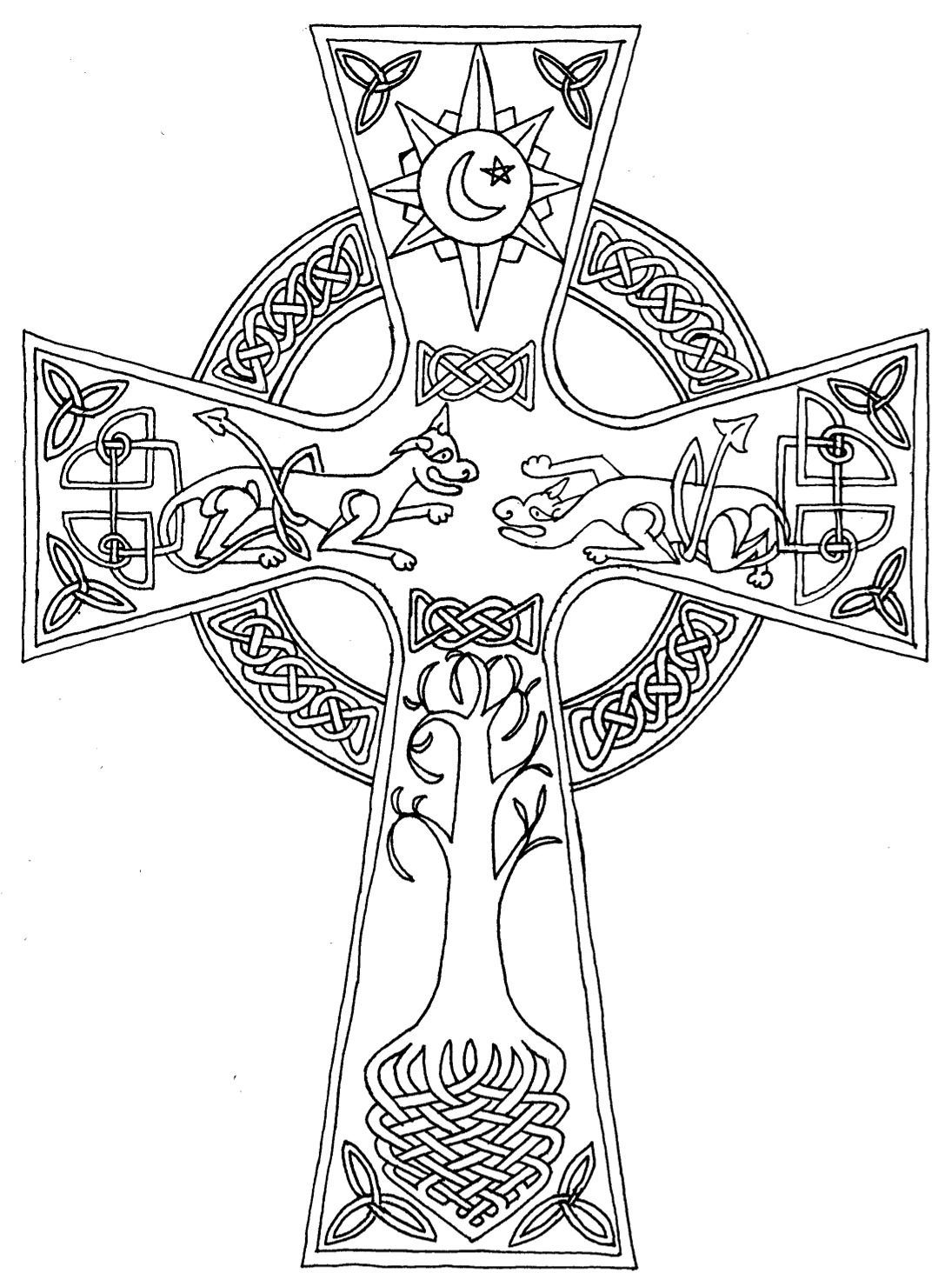Coloring pages crosses - Celtic Cross Coloring Pages 16 Jpg