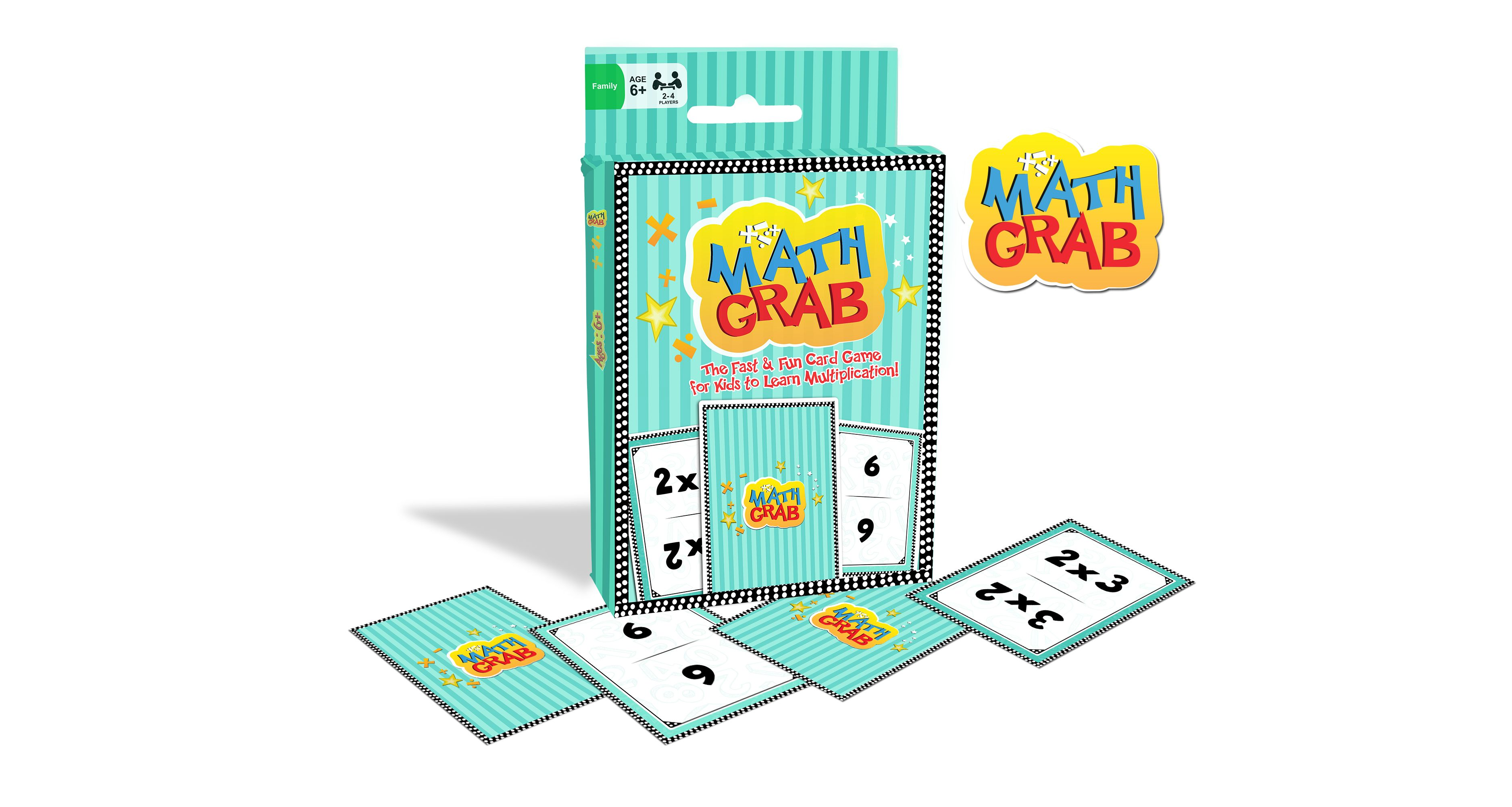 Math Grab Multiplication Card Game | Kids Math Multiplicaton ...