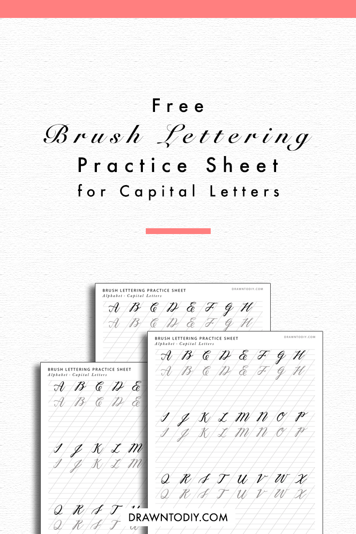 Predownload: It 39 S All About Practice When It Comes To Lettering Try Using These Free Capital Let Brush Lettering Practice Brush Lettering Worksheet Lettering Practice [ 1102 x 735 Pixel ]