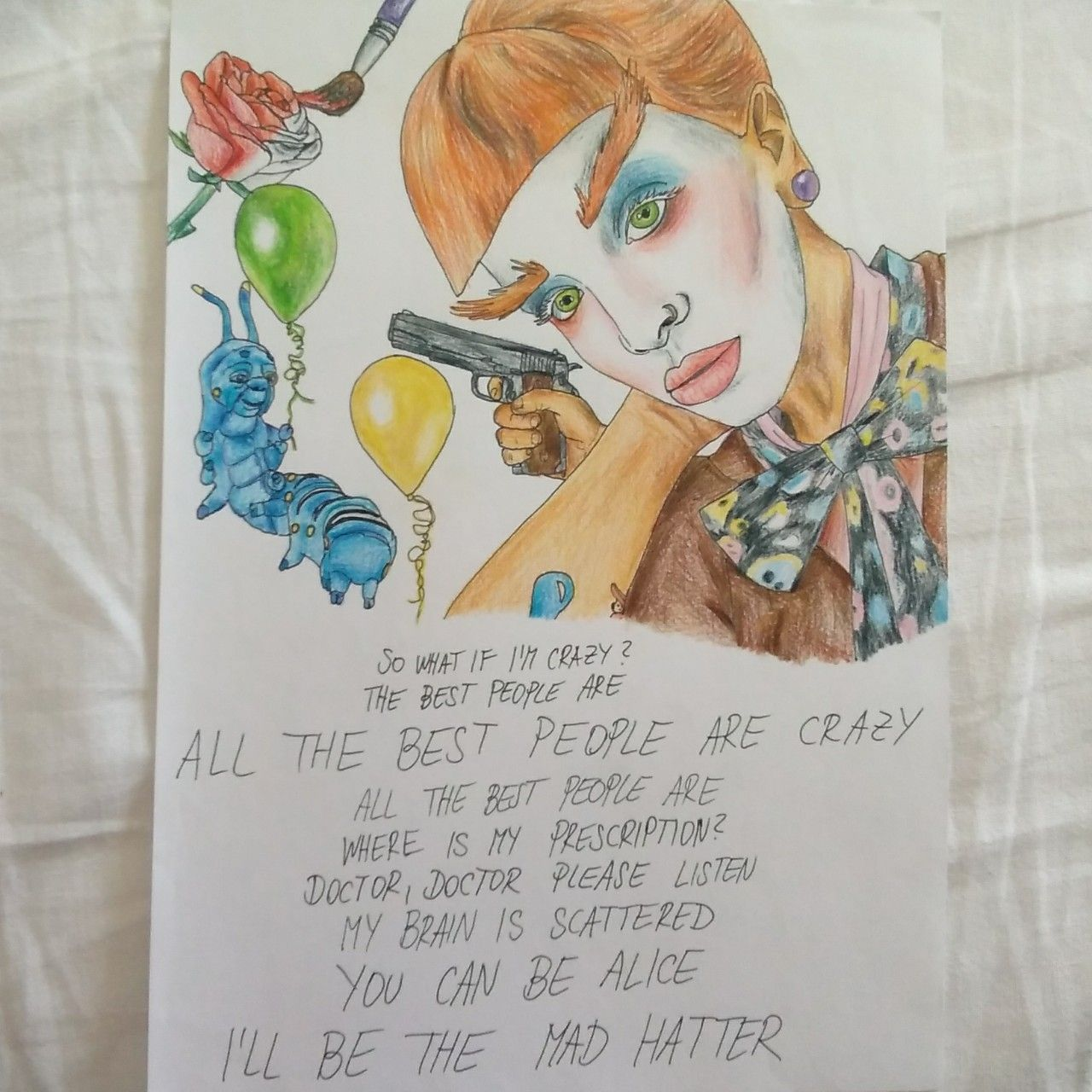Melanie Martinez Mad Hatter Drawing Cry Baby K 12 Depop Mad Hatter Drawing Melanie Martinez Mad Hatter Mad Hatter