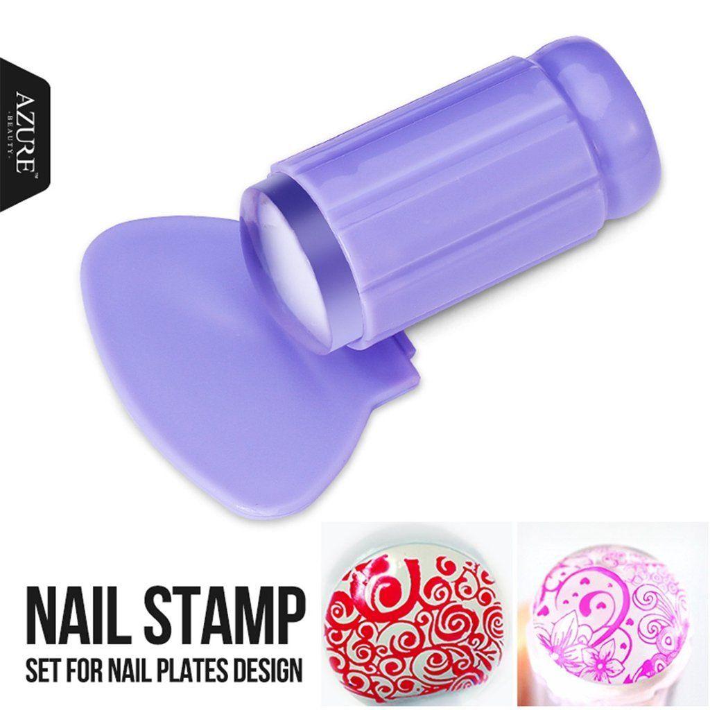 Nail Art Soft Silicone Stamping Stamper Nails Scraper DIY Design ...