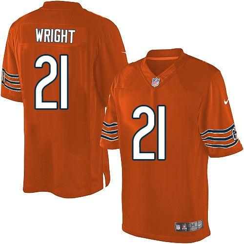 aba92a245 Womens Nike Chicago Bears Wright Major Nfl jerseys · 89.99 Mens Nike  Chicago Bears 21 Major Wright Limited Alternate Orange Jersey ...