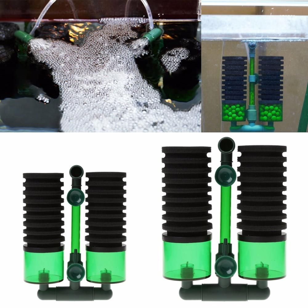Aquarium Fish Tank Biochemical Sponge Filter Air Pump