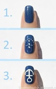 Easy, how to do anchor nail polish
